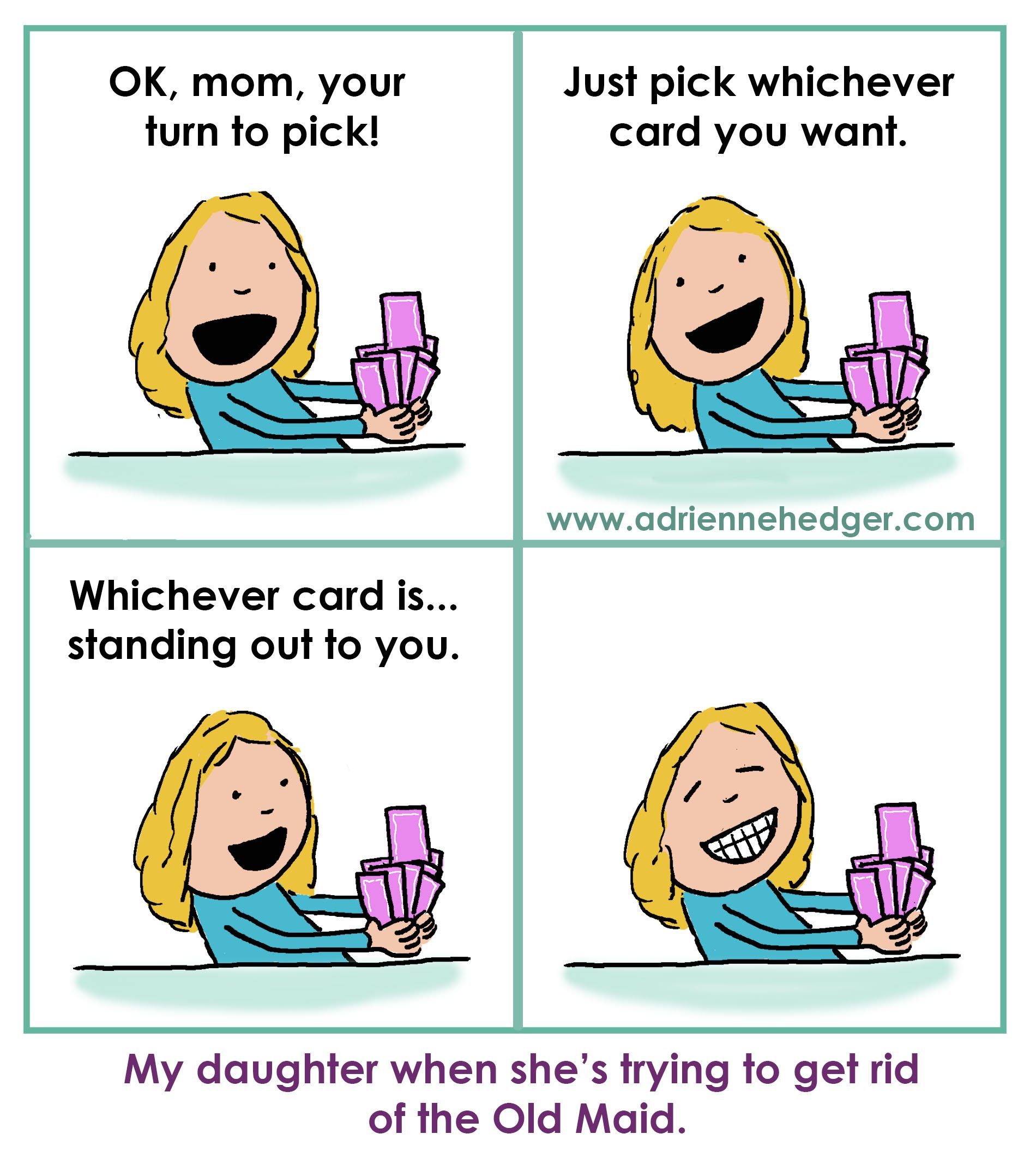 Playing Old Maid With Claire
