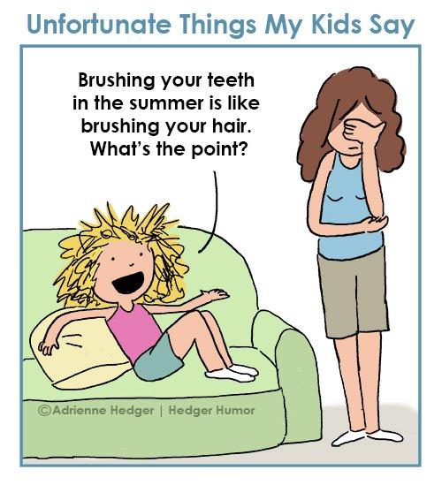 summer brush hair teeth 500